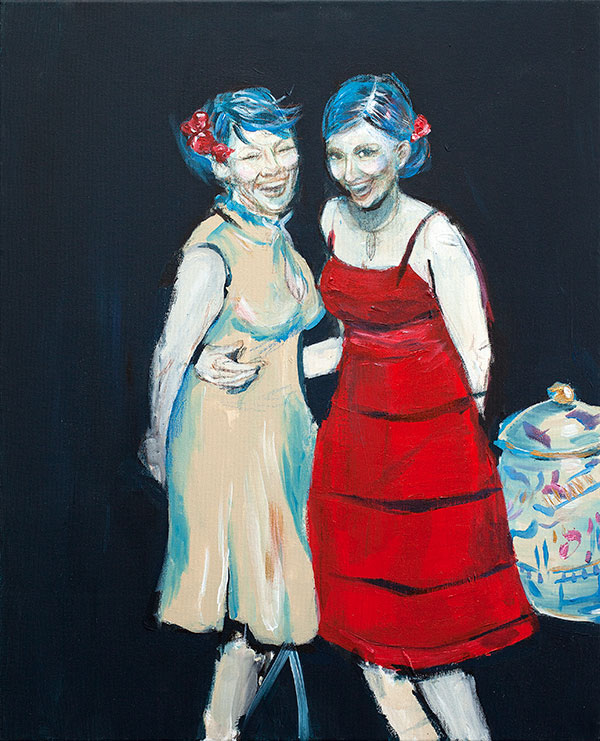 Siskokset (Enan ja Bettyn muotokuva John Singer Sargentin mukaan) 2019 - Krista Launila