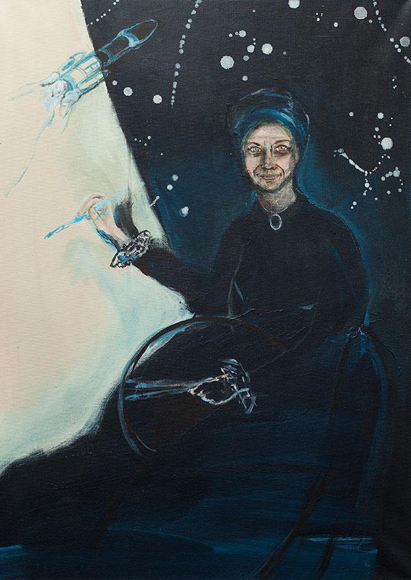 Omakuva (Minua tullaan hakemaan raketilla) Elisabeth Vigéen mukaan, 2019 - Krista Launila
